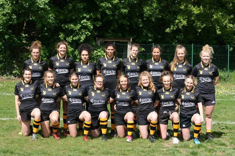 équipe de rugby féminine